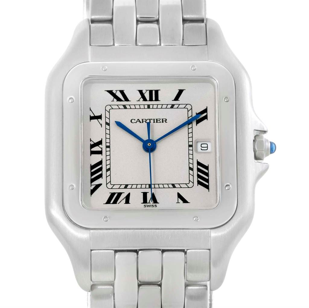 13408 Cartier Panthere Jumbo Stainless Stainless Steel Unisex Watch W25032P5 SwissWatchExpo