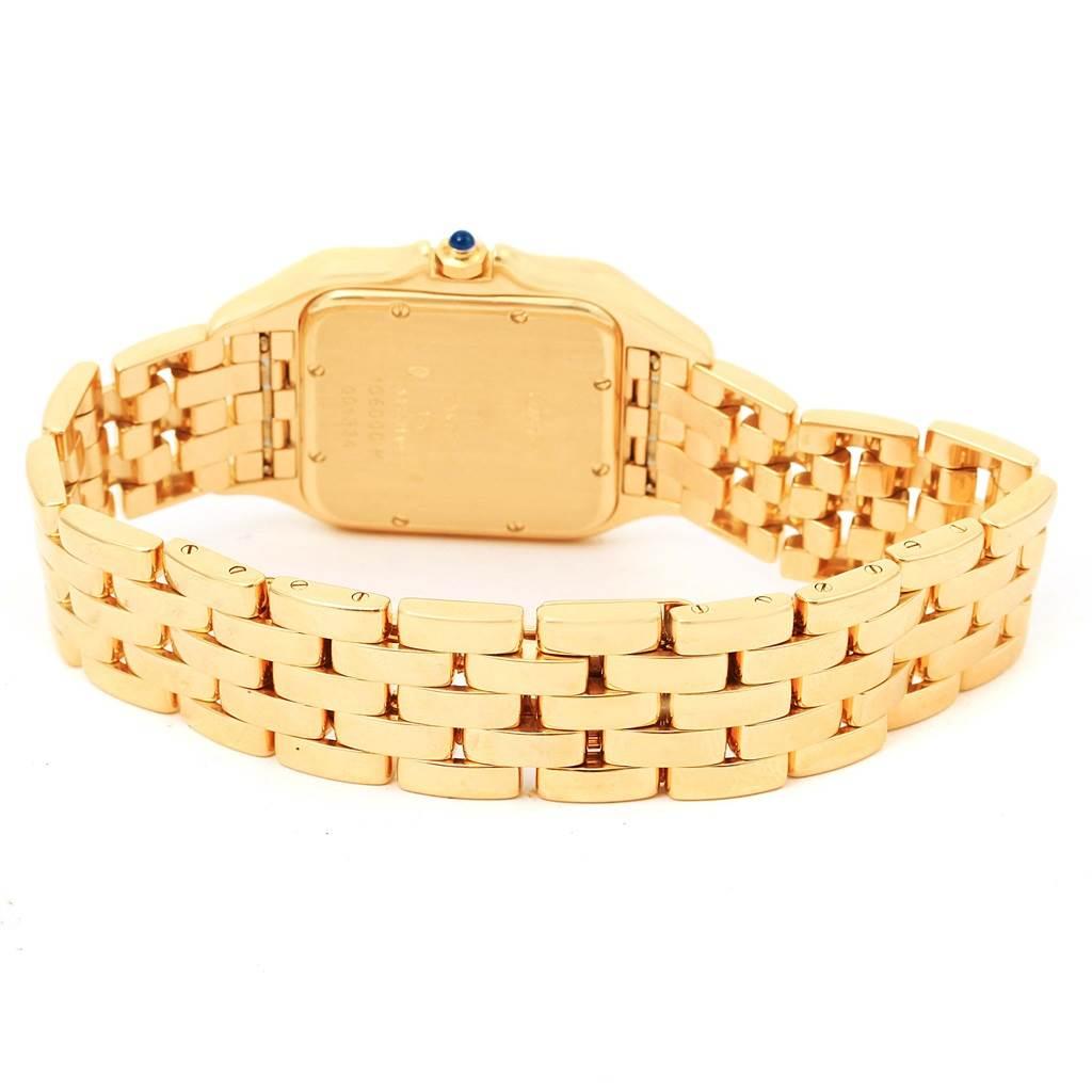 Cartier Panthere XL 18K Yellow Gold Date Unisex Watch W25014B9 SwissWatchExpo