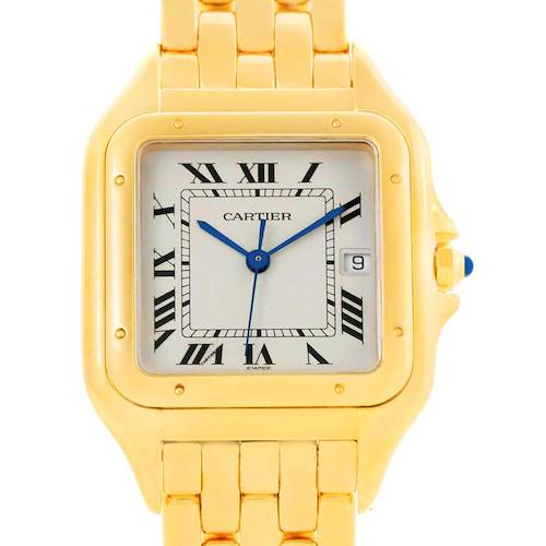 Photo of Cartier Panthere XL 18K Yellow Gold Date Unisex Watch W25014B9