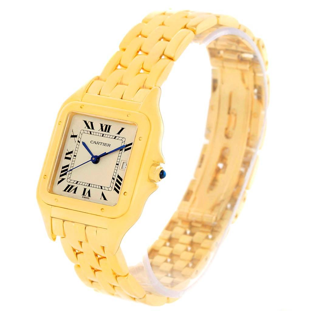 11429 Cartier Panthere XL 18K Yellow Gold Date Unisex Watch W25014B9 SwissWatchExpo