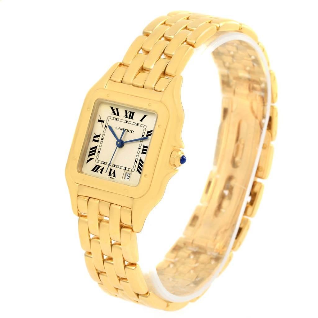 Cartier Panthere Large 18K Yellow Gold Unisex Watch W25028B6 SwissWatchExpo