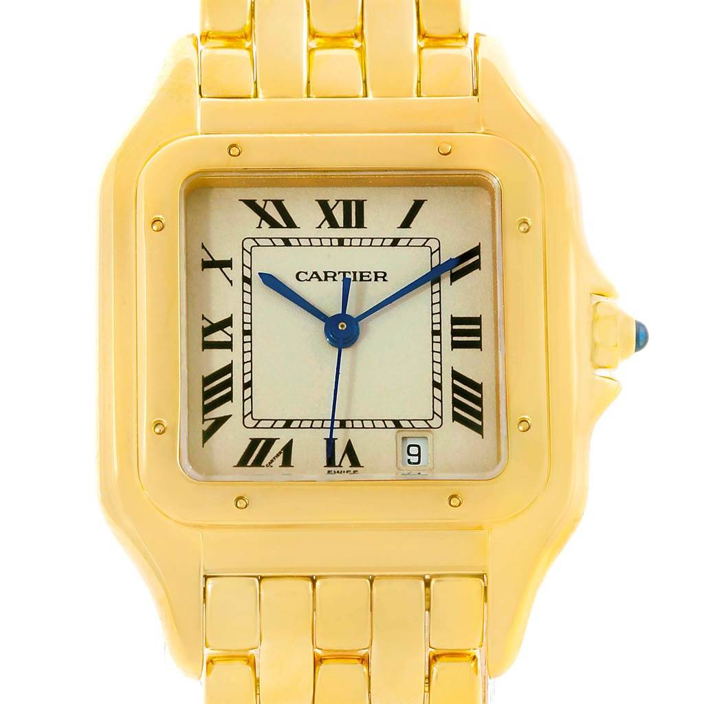 13779 Cartier Panthere Large 18K Yellow Gold Unisex Watch W25028B6 SwissWatchExpo