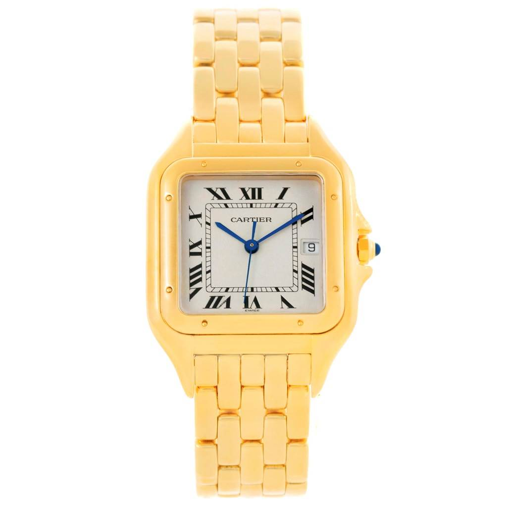 15548 Cartier Panthere XL 18K Yellow Gold Silver Dial Unisex Watch W25014B9 SwissWatchExpo