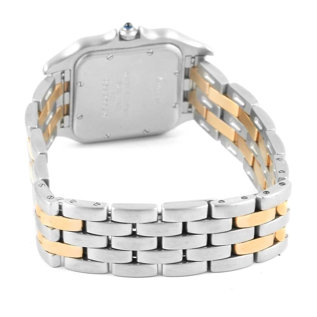 14394 Cartier Panthere Large Steel 18K Yellow Gold 2 Row Watch W25028B8 SwissWatchExpo