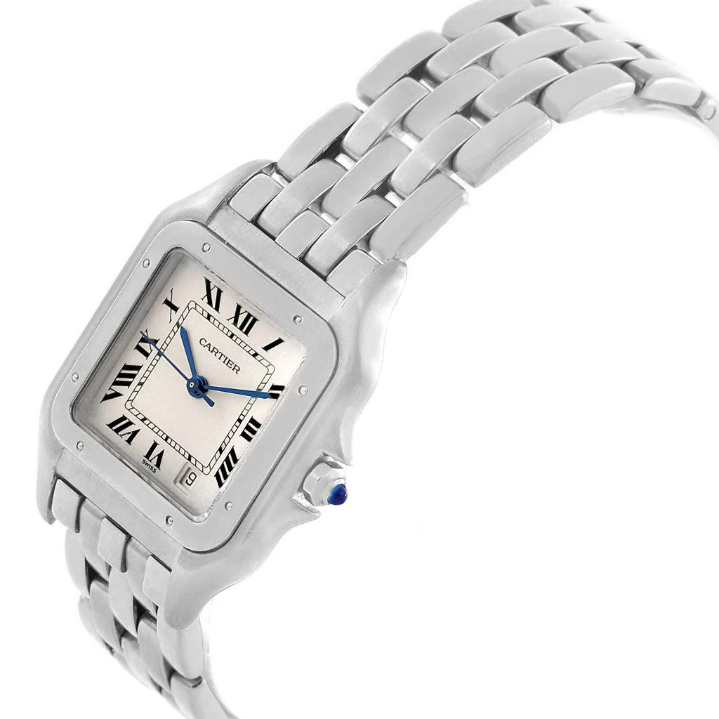 14052 Cartier Panthere Stainless Steel Large Unisex Watch W25054P5 SwissWatchExpo