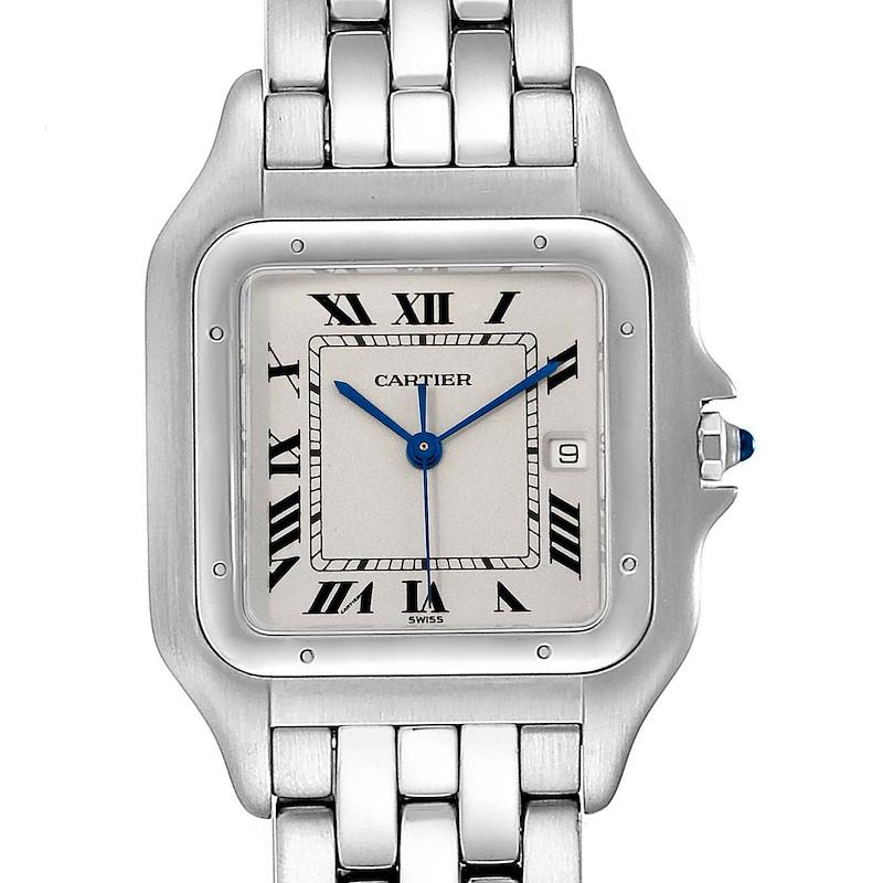 Cartier Panthere Jumbo Stainless Steel Unisex Watch W25032P5 SwissWatchExpo