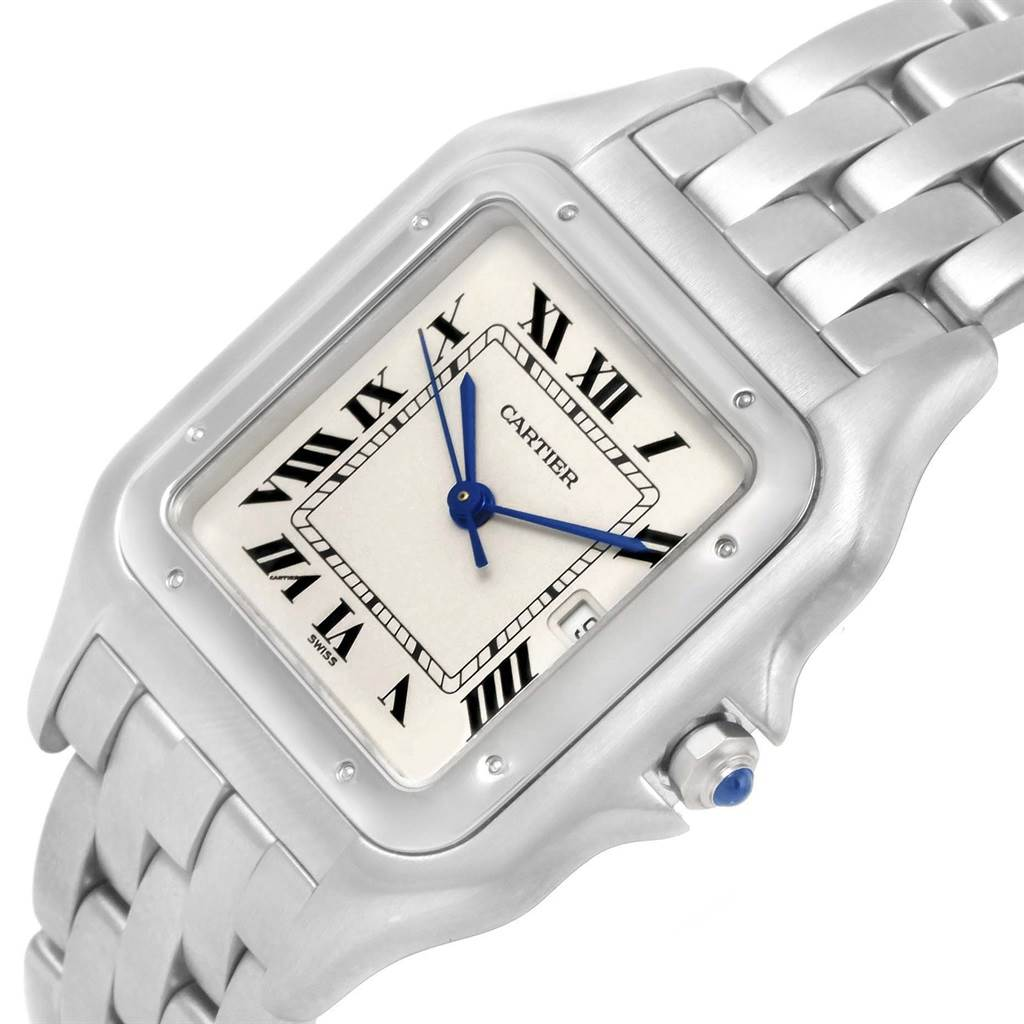 Cartier Panthere Jumbo Stainless Steel Quartz Unisex Watch W25032P5 SwissWatchExpo