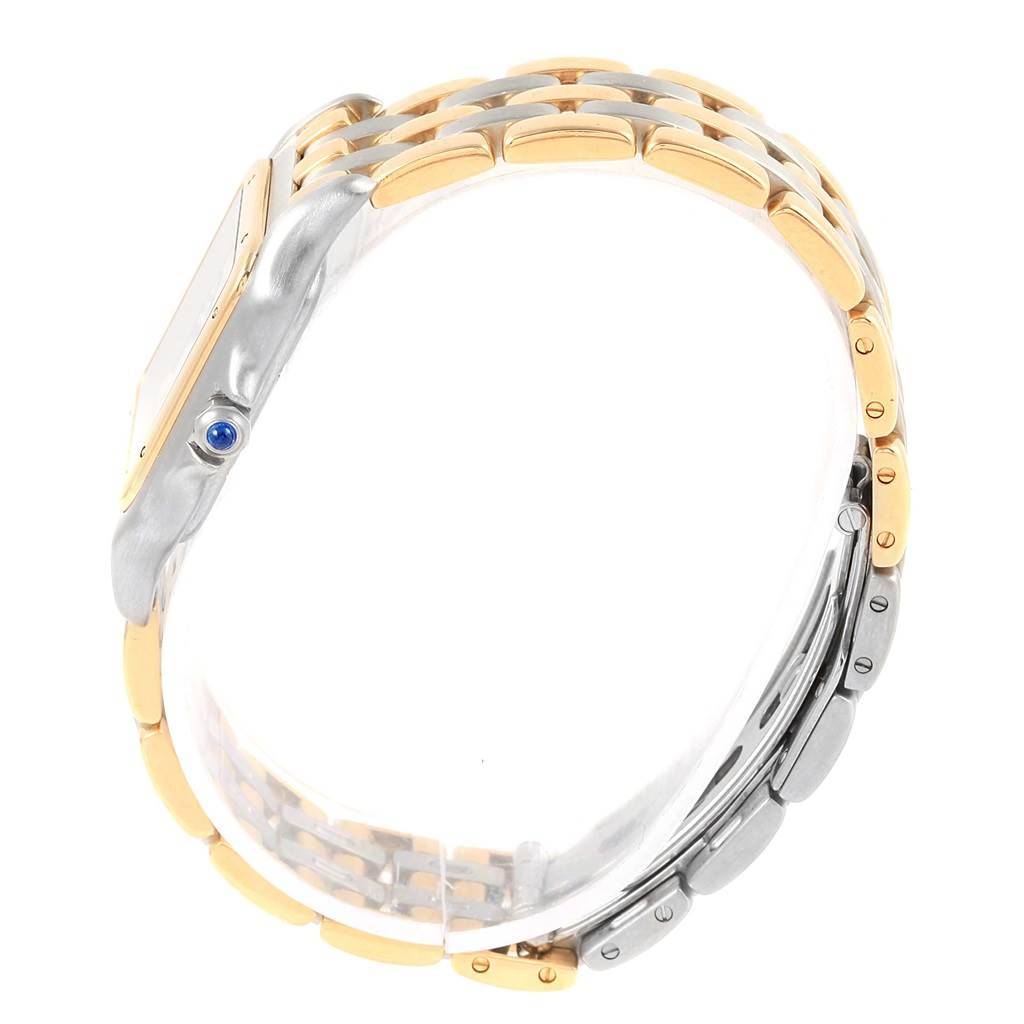 11080 Cartier Panthere Large Steel 18K Yellow Gold Three Row Watch W25028B6 SwissWatchExpo