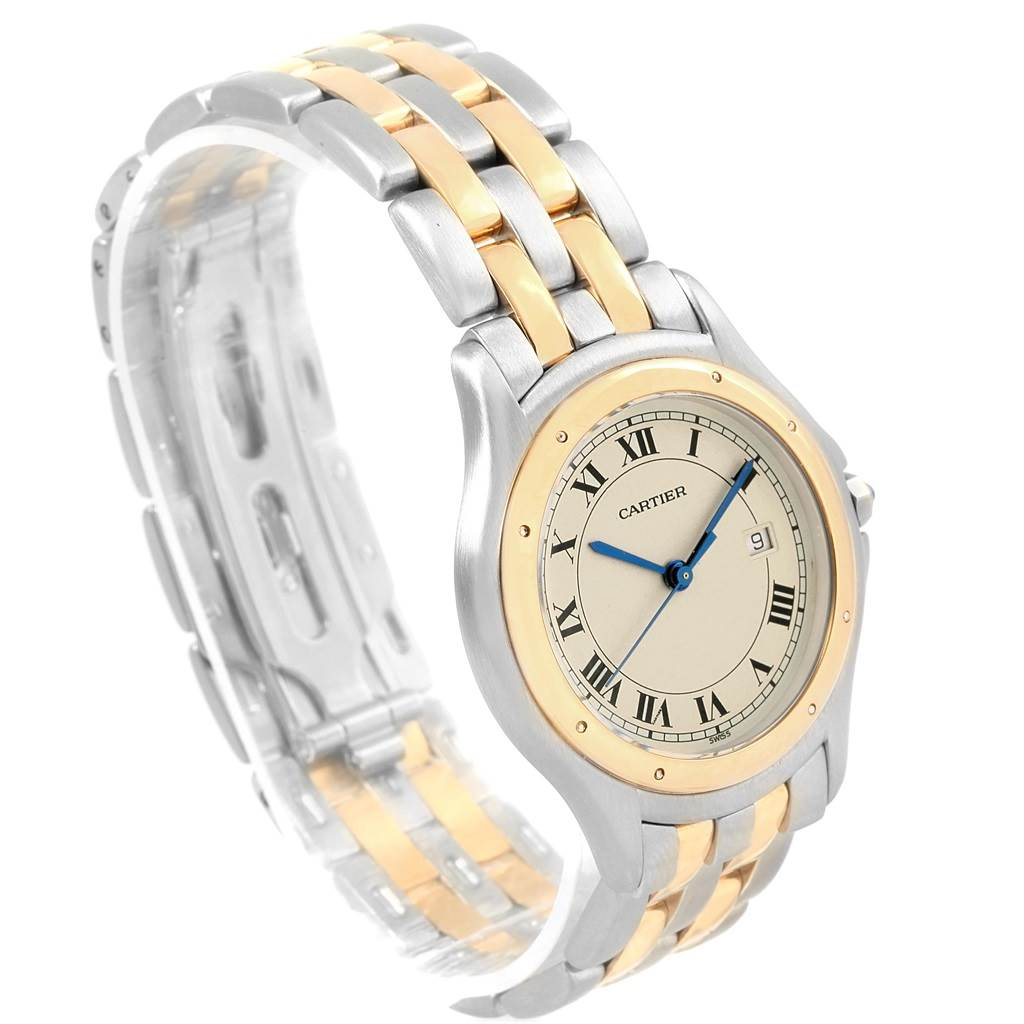 Cartier Cougar Steel 18K Yellow Gold Unisex Watch W35006B6 SwissWatchExpo