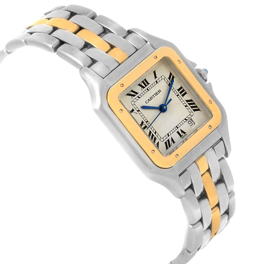 Cartier Panthere Steel 18K Yellow Gold Unisex Watch W25028B5 SwissWatchExpo