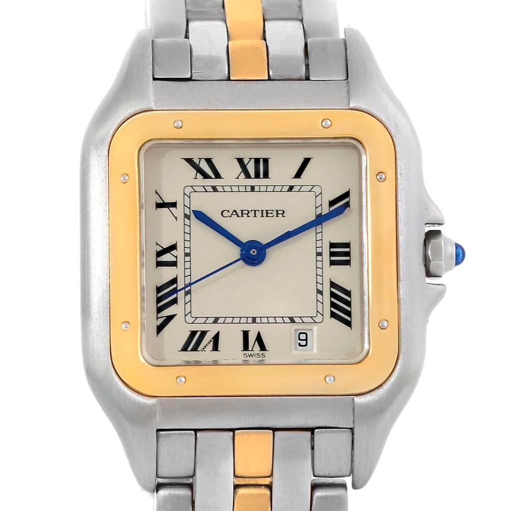 11178 Cartier Panthere Steel 18K Yellow Gold Unisex Watch W25028B5 SwissWatchExpo