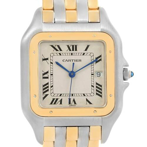 Photo of Cartier Panthere Jumbo Steel 18K Yellow Gold Three Row Quartz Watch