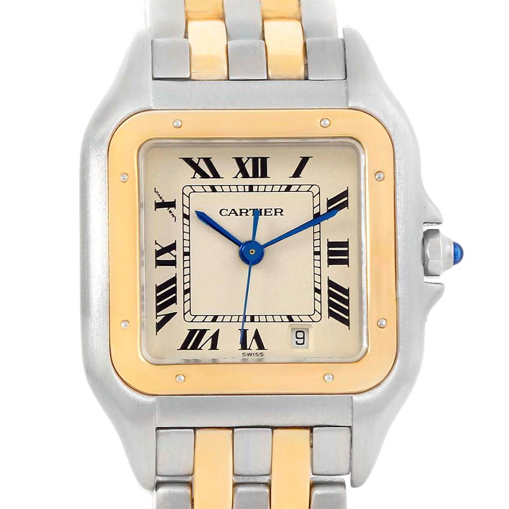 9311 Cartier Panthere Large Steel 18K Yellow Gold 2 Row Watch W25028B8 SwissWatchExpo