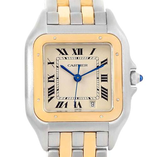 Photo of Cartier Panthere Large Steel 18K Yellow Gold 2 Row Watch W25028B8