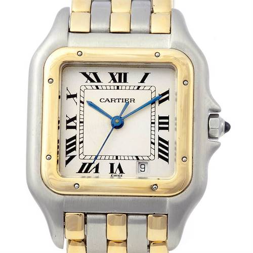 Photo of Cartier Panthere Large Ss & 18k Yellow Gold Three Row Watch