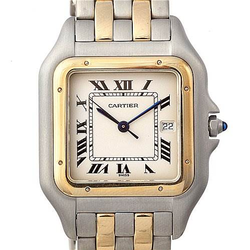 2017 Cartier Panthere Jumbo Ss & 18k y Gold Two Row Watch SwissWatchExpo