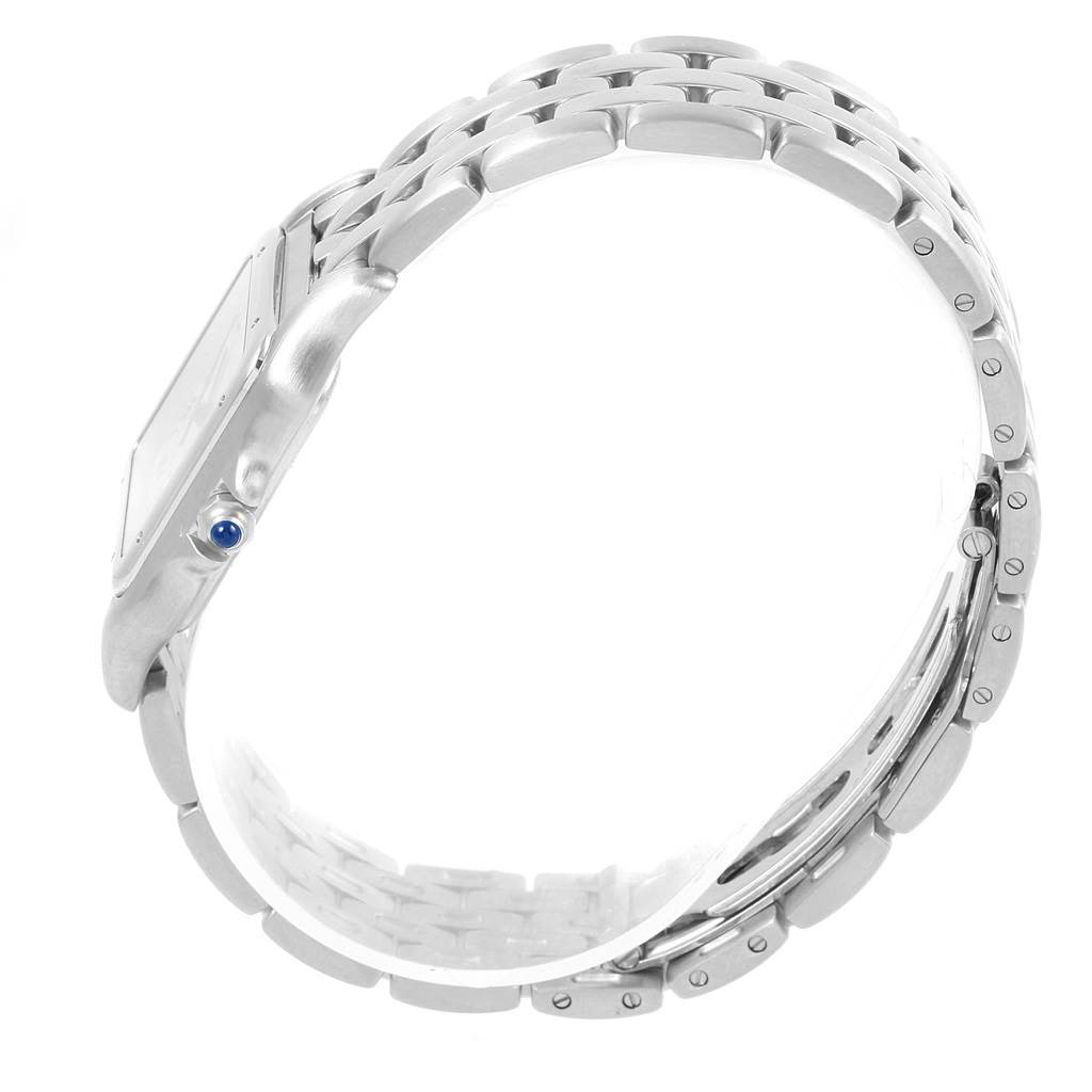 Cartier Panthere Silver Dial Steel Large Unisex Watch W25054P5 SwissWatchExpo