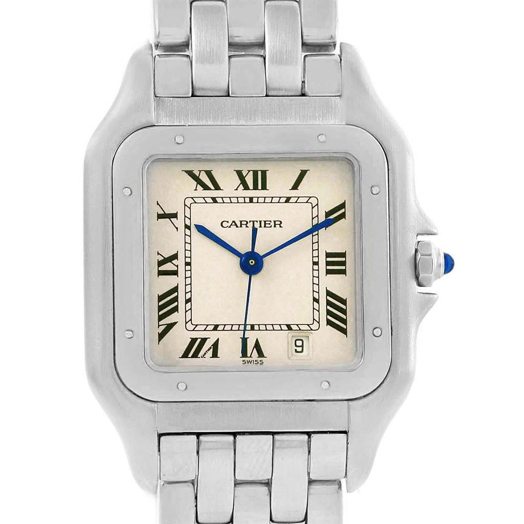 17761 Cartier Panthere Silver Dial Steel Large Unisex Watch W25054P5 SwissWatchExpo