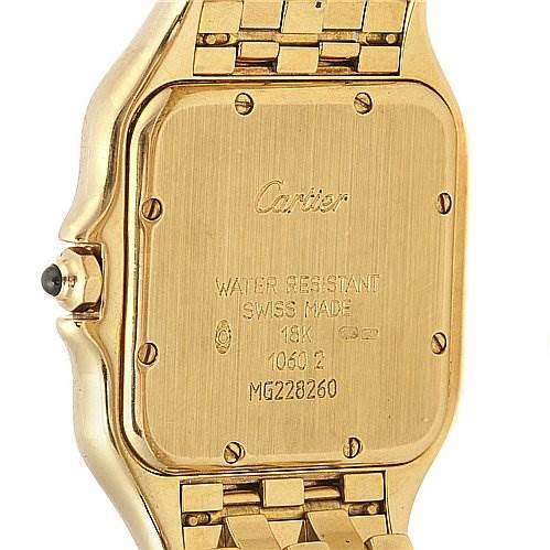 2059 Cartier Panthere Jumbo 18k Yellow Gold Watch W25028b501 SwissWatchExpo