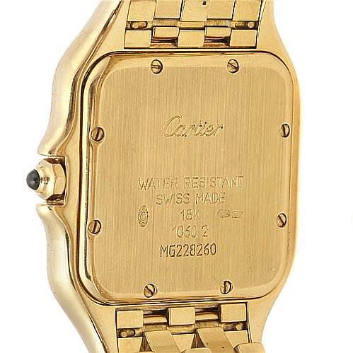 Cartier Panthere Jumbo 18k Yellow Gold Watch W25028b501 SwissWatchExpo