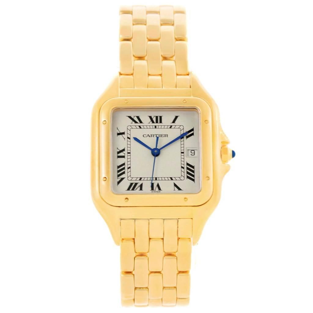 18041 Cartier Panthere Jumbo 18K Yellow Gold Mens Watch W25014B9 SwissWatchExpo