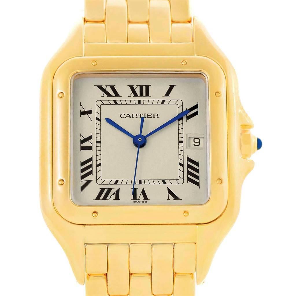 Cartier Panthere Jumbo 18K Yellow Gold Mens Watch W25014B9 SwissWatchExpo