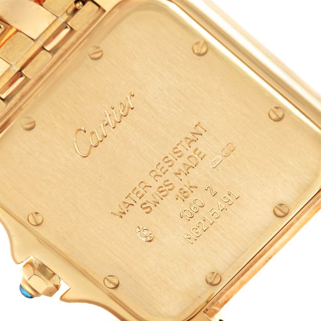 18153 Cartier Panthere Jumbo 18K Yellow Gold Mens Watch W25014B9 SwissWatchExpo