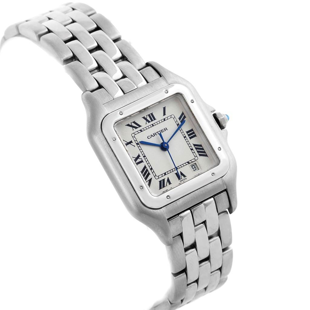 18503 Cartier Panthere Large Steel Unisex Watch W25054P5 Box Papers SwissWatchExpo