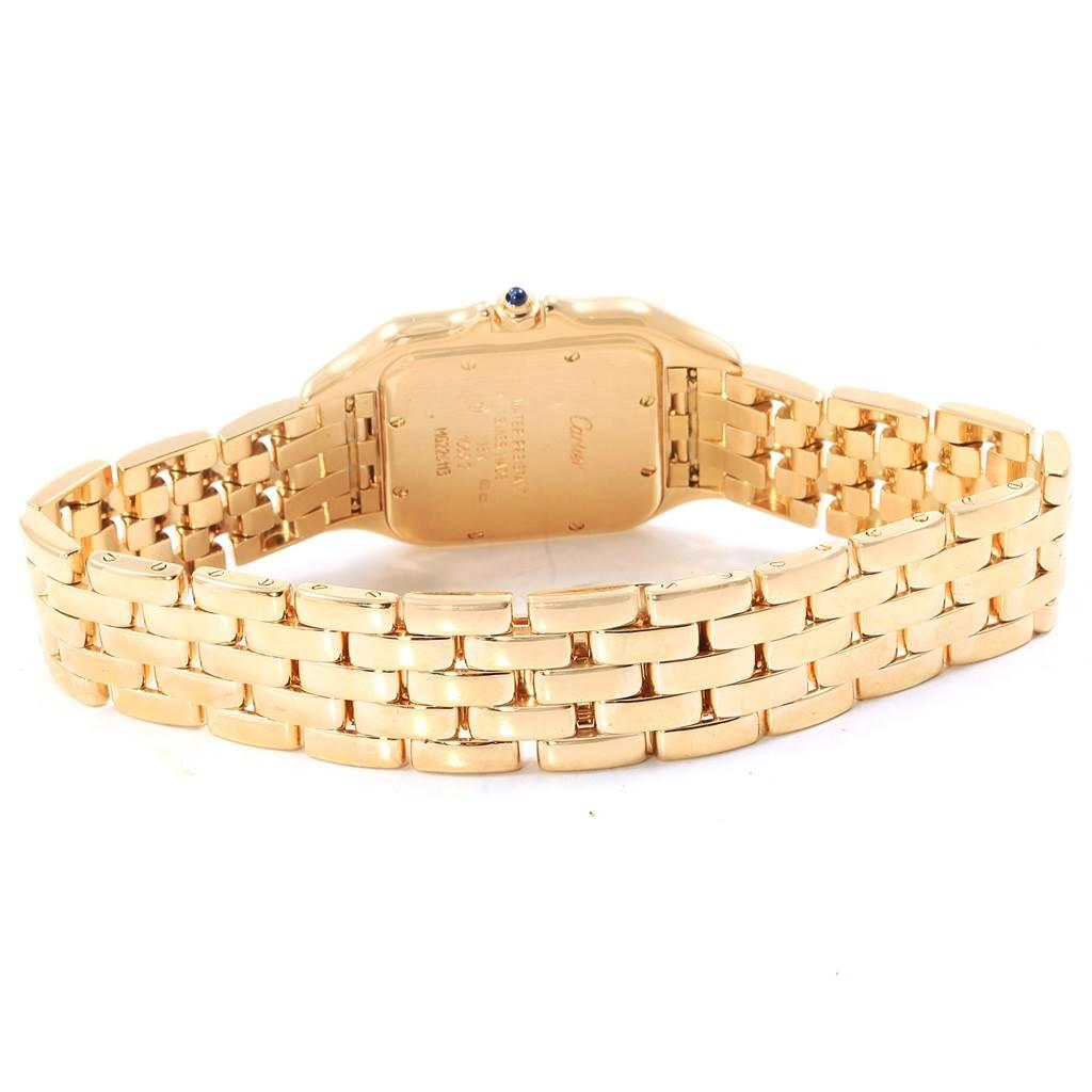 Cartier Panthere XL 18K Yellow Gold Unisex Watch W25014B9 Box Papers SwissWatchExpo
