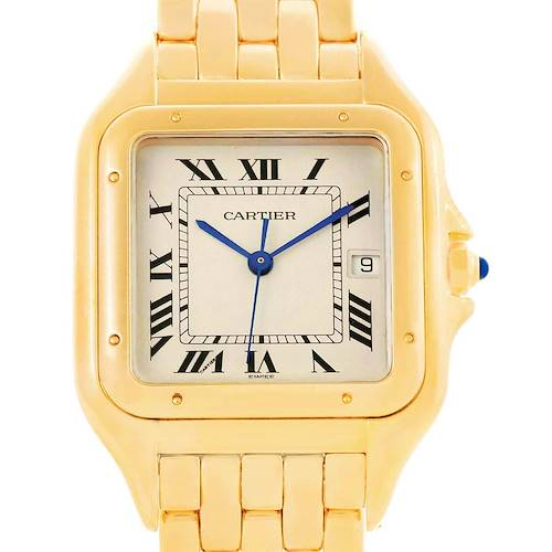 Photo of Cartier Panthere XL 18K Yellow Gold Unisex Watch W25014B9 Box Papers