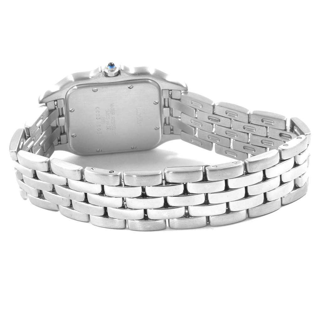18223 Cartier Panthere Jumbo Stainless Steel Unisex Watch W25032P5 SwissWatchExpo