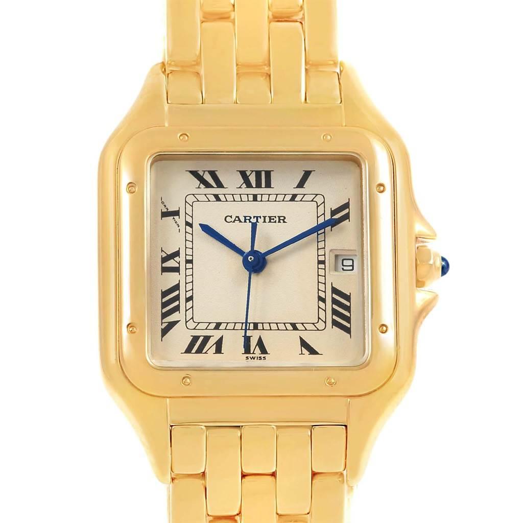 19090 Cartier Panthere XL 18K Yellow Gold Unisex Watch W25014B9 SwissWatchExpo