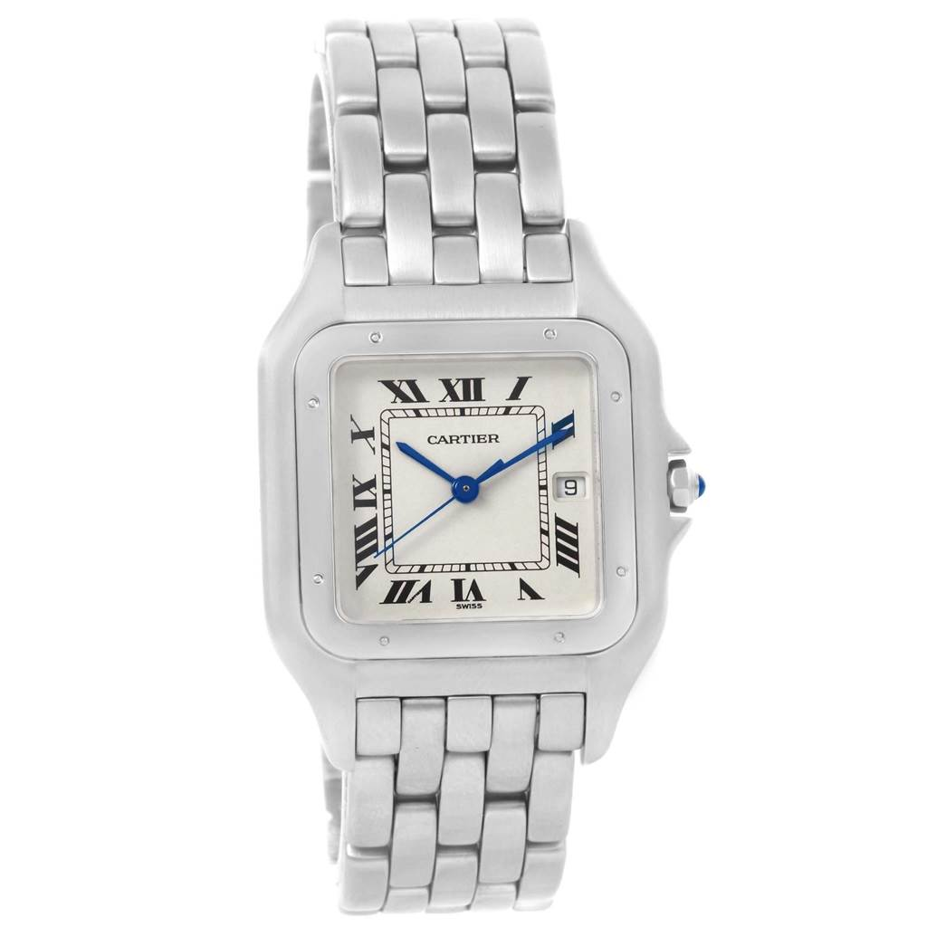 19253 Cartier Panthere Jumbo Stainless Steel Unisex Watch W25032P5 SwissWatchExpo