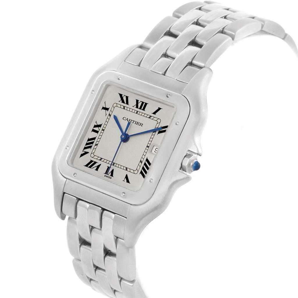 19334 Cartier Panthere Jumbo Steel Unisex Watch W25032P5 Box Papers SwissWatchExpo