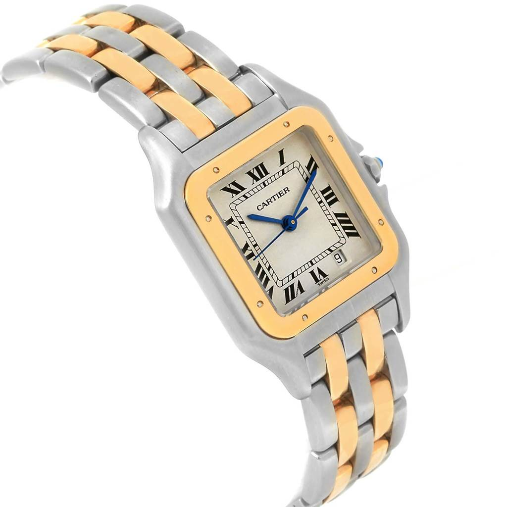 17938 Cartier Panthere Large Steel Yellow Gold Two Row Unisex Watch W25028B8 SwissWatchExpo
