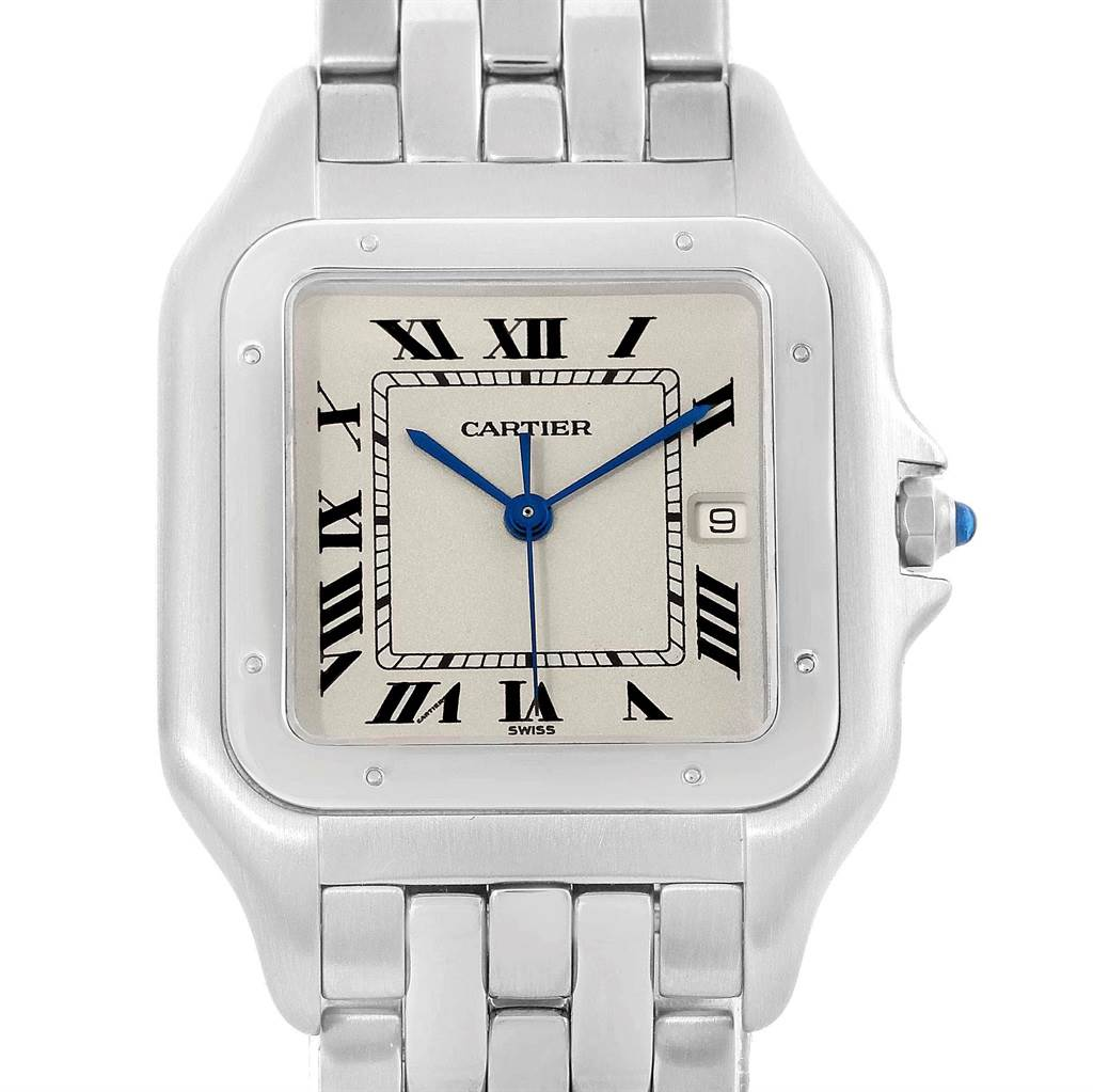 Cartier Panthere Jumbo Stainless Steel Unisex Watch W25032P5 SwissWatchExpo