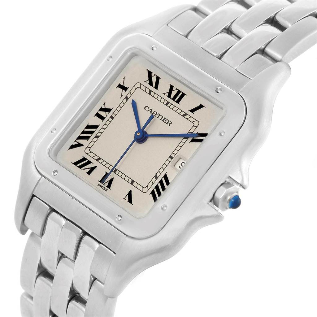 20446 Cartier Panthere Jumbo Stainless Steel Unisex Watch W25032P5 SwissWatchExpo