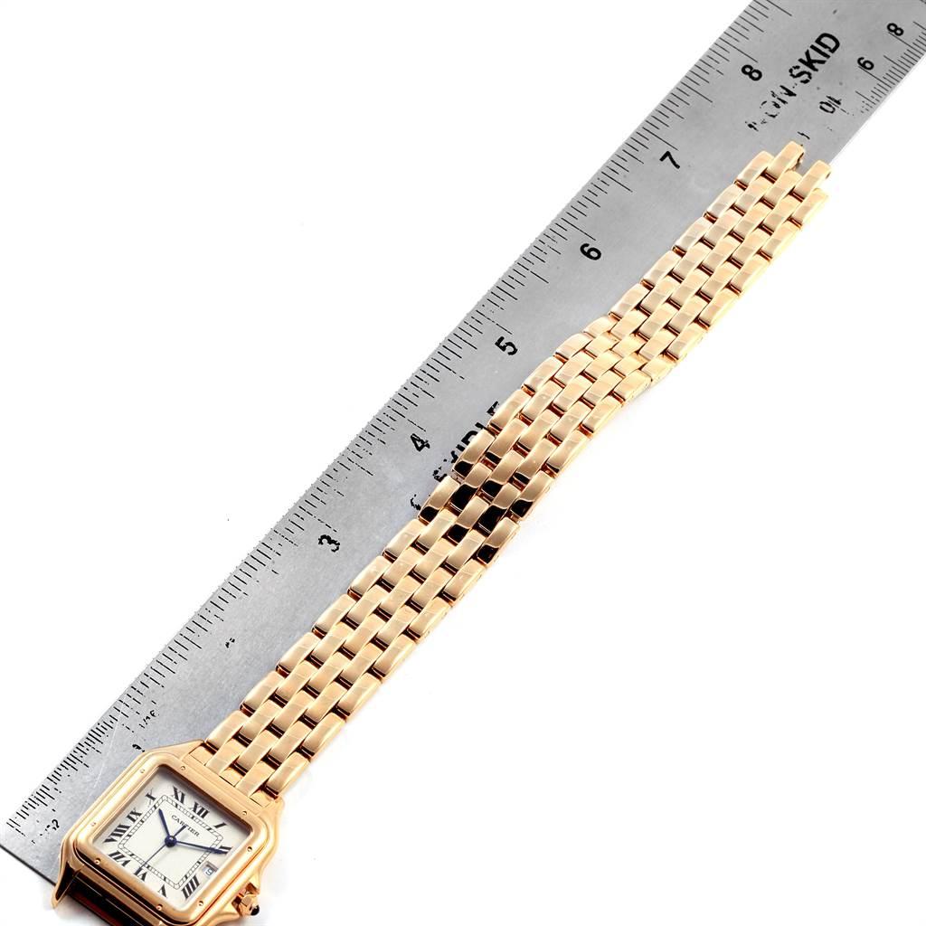 Cartier Panthere XL Blue Sapphire Crown Yellow Gold Mens Watch W25014B9 SwissWatchExpo