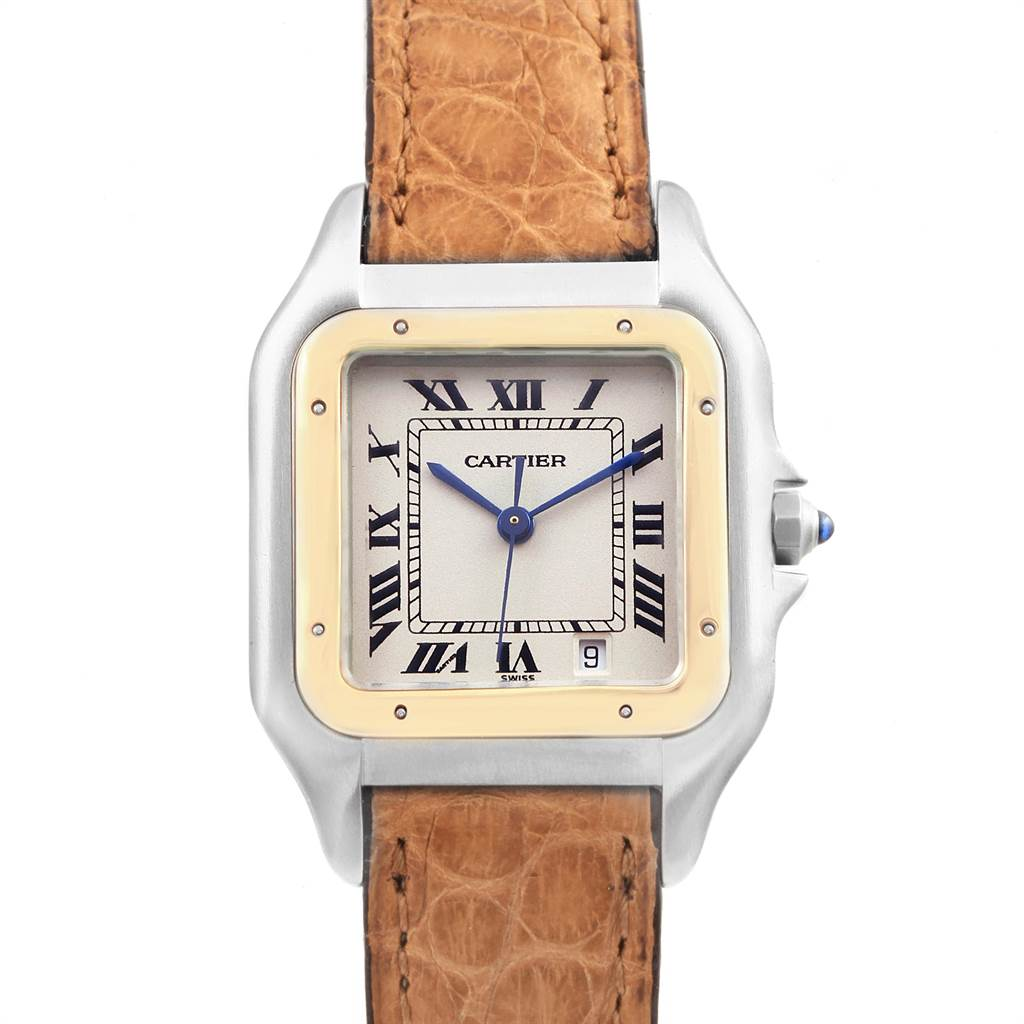 Cartier Panthere Large Steel Yellow Gold Unisex Watch W25028B6 SwissWatchExpo