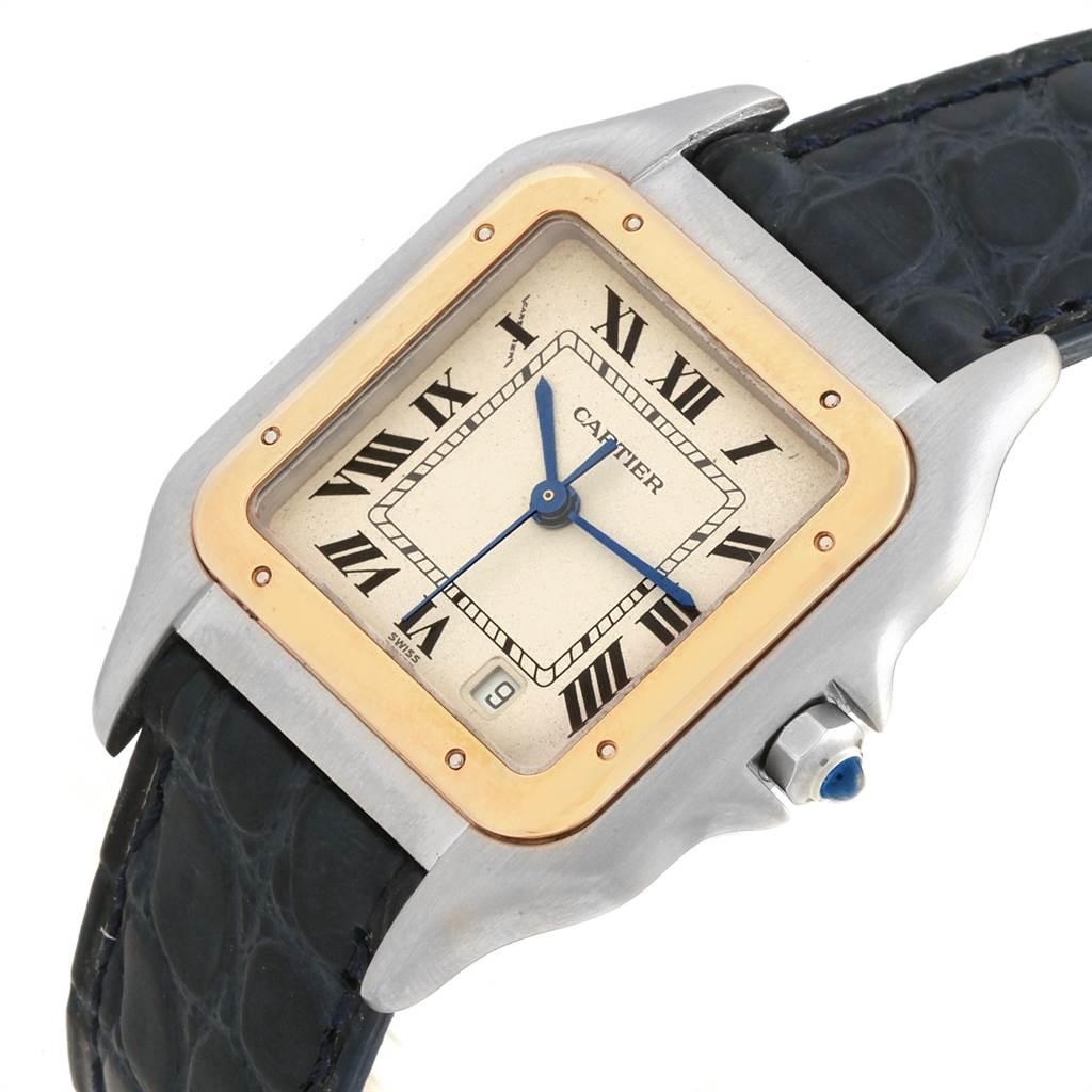 Cartier Panthere Large Steel Yellow Gold Unisex Unisex Watch W25028B6 SwissWatchExpo