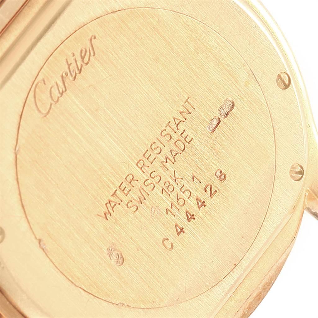 Cartier Cougar 18K Yellow Gold Blue Dial Unisex Watch  W35019L3 SwissWatchExpo
