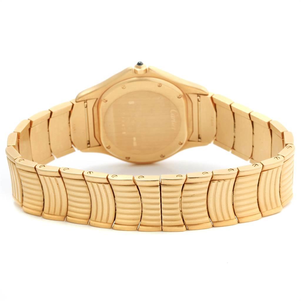21923 Cartier Cougar 18K Yellow Gold Blue Dial Unisex Watch 11651 SwissWatchExpo