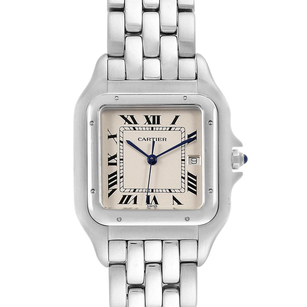 22046 Cartier Panthere Jumbo Stainless Steel Mens Watch W25032P5 SwissWatchExpo