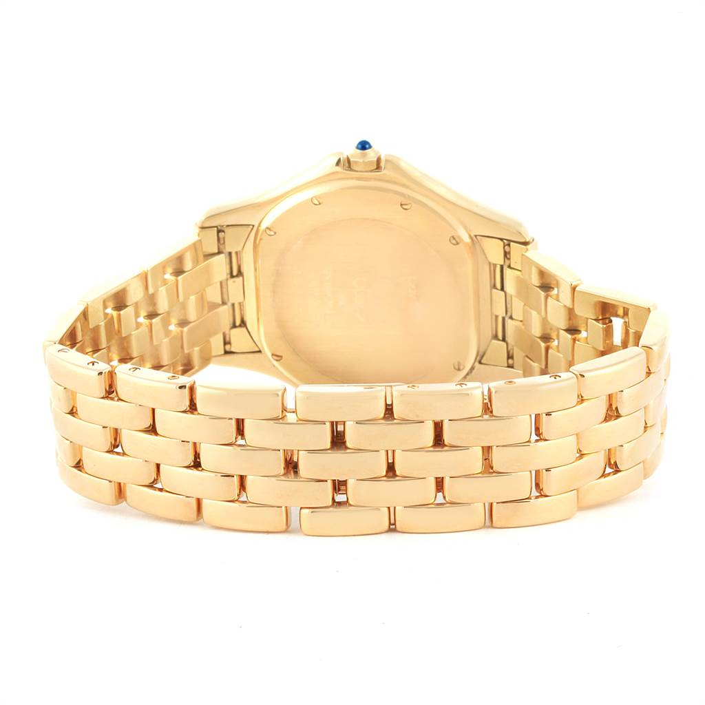 21922 Cartier Cougar 18K Yellow Gold Silver Dial Unisex Watch 887904 SwissWatchExpo