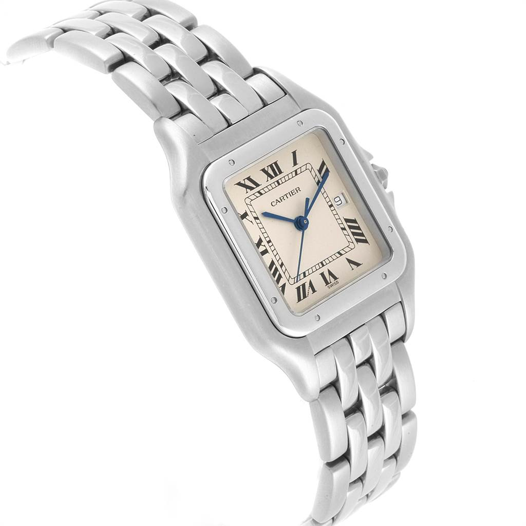 20451 Cartier Panthere Jumbo 29mm Stainless Steel Mens Watch W25032P5 SwissWatchExpo