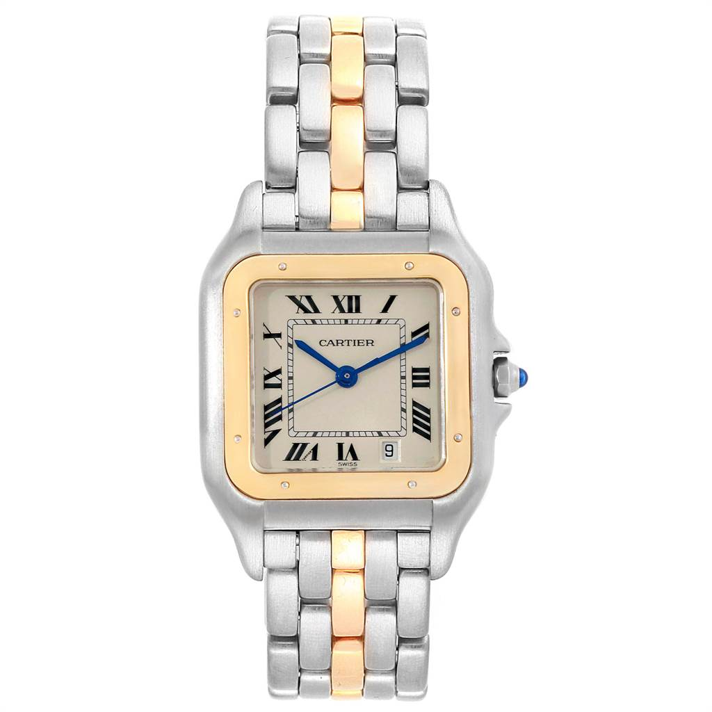 Cartier Panthere Steel 18K Yellow Gold Unisex Watch W25028B5 SwissWatchExpo