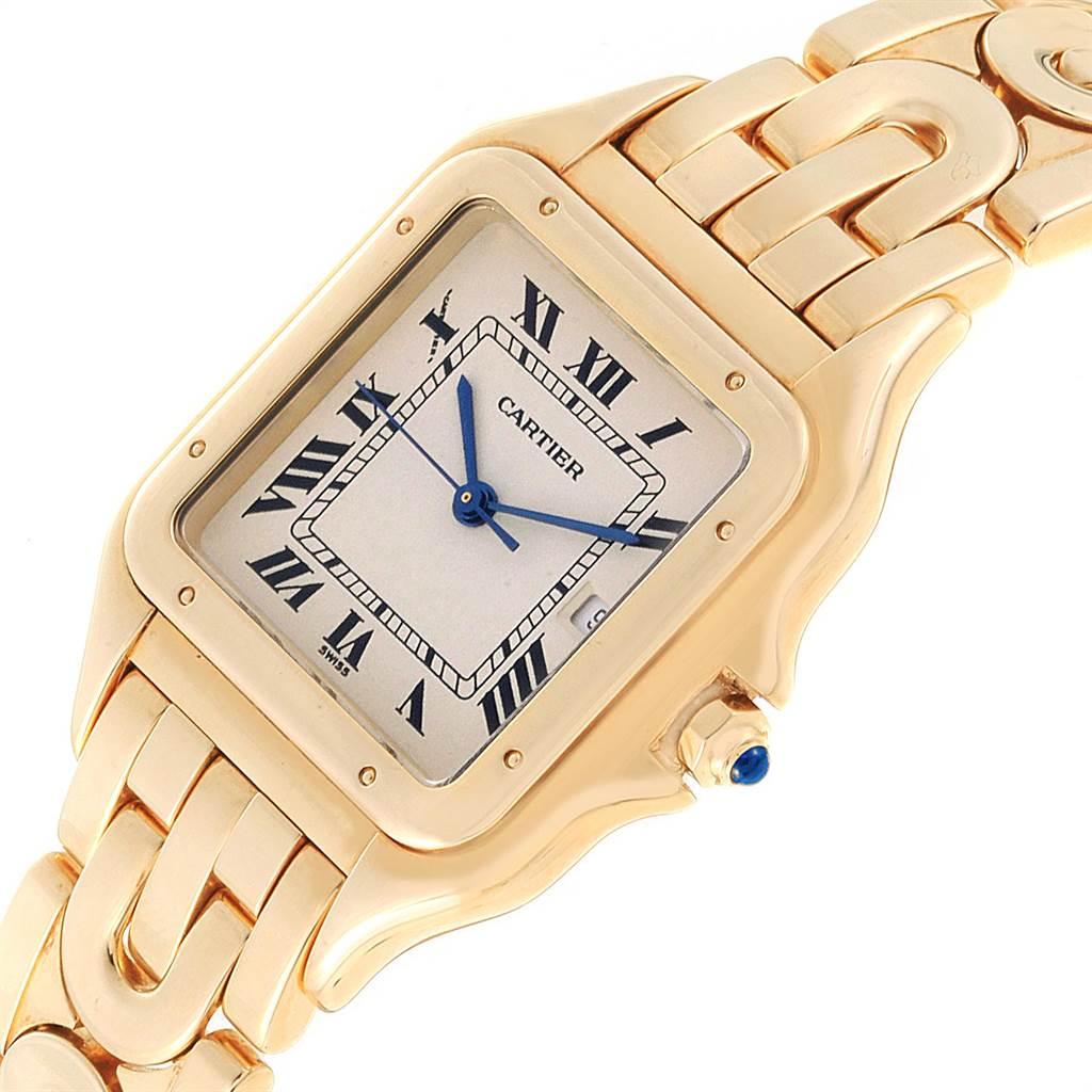22822 Cartier Panthere XL Art Deco Yellow Gold Mens Watch W25014B9 SwissWatchExpo