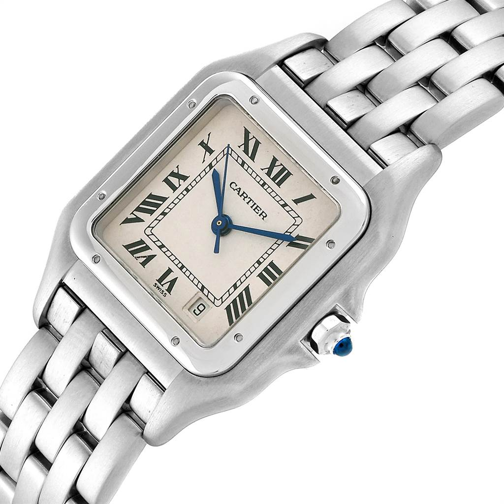 Cartier Panthere Large Stainless Steel Unisex Watch W25054P5 SwissWatchExpo