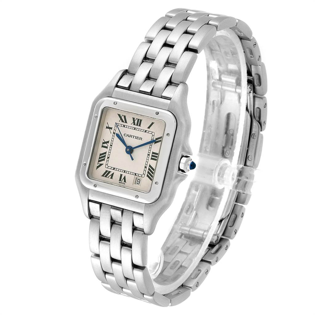 21980 Cartier Panthere Large Stainless Steel Unisex Watch W25054P5 SwissWatchExpo