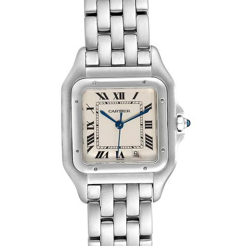 Photo of Cartier Panthere Large Blue Hands Steel Unisex Watch W25054P5